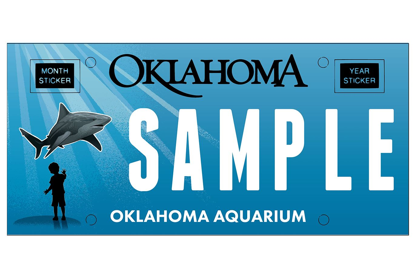 Oklahoma Aquarium License Plate-No BG